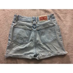 Vintage BONGO high waisted jean shorts distressed
